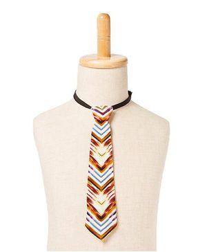 Brown Bows Tie V Print - Multicolour