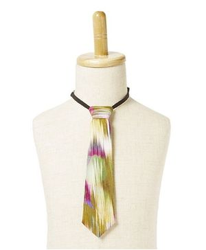 Brown Bows Tie Smudge Print - Multicolour