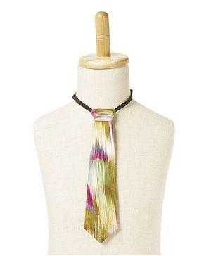 Brown Bows Tie Smudge Print - Multicolour