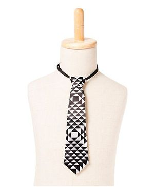 Brown Bows Psychedelic Monochrome Tie - Black White