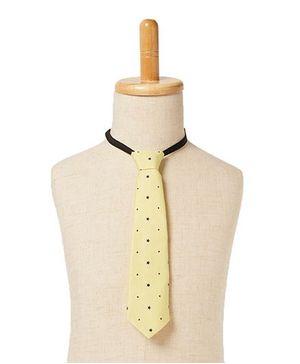 Brown Bows Star Print Tie - Yellow