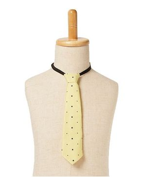 Brown Bows Star Print Tie - Yellow