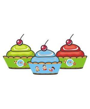 Preetyurparty Pool Party Cupcake Wrappers - Pack of 10 Wrappers