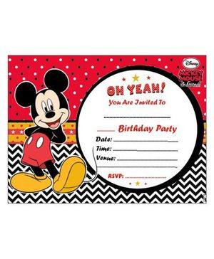 Disney Mickey Mouse Invitations - Pack of 10
