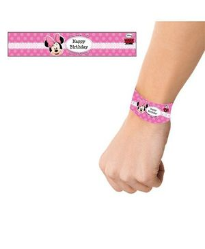 Disney Minnie Mouse Wrist Bands - Pack of 10