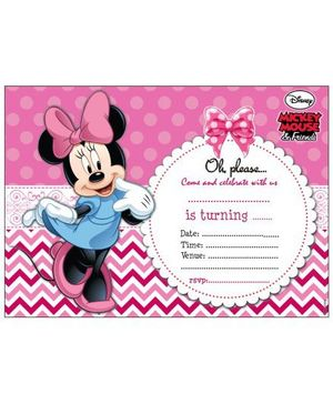 Disney Minnie Mouse Invitations Cards - Pack of 10
