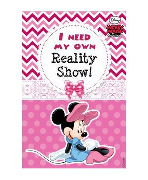 Minnie Mouse Vertical Banner 04 - Pink