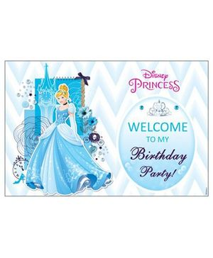 Disney Cinderella Welcome Banner - Blue