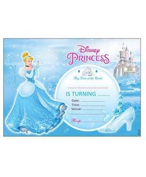 Disney Cinderella Invitations Cards With Envelope - Pack of 10