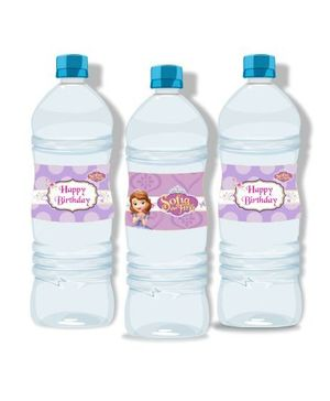 Disney Sofia The First Enchanted Garden Party Water Bottle Labels - Pack of 10