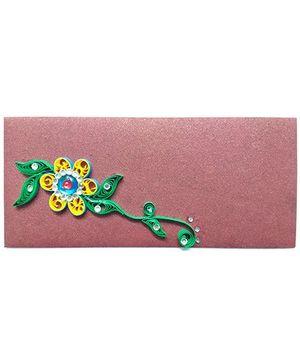 Creative Hand Quilling Shagun Envelopes - Maroon