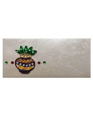 Creative Hand Quilling Shagun Envelopes - White