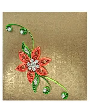 Creative Hand Quilling Shagun Envelopes Small - Gold