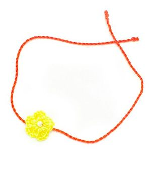 Mi Dulce An'ya Crochet Flower Rakhi - Yellow