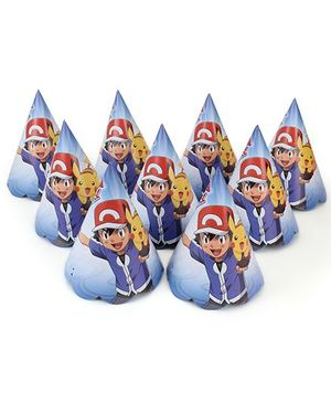 Pokemon Paper Hats Blue - 10 Pieces