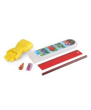 Buddyz Magic Hand Pencil Box Car Print - Yellow