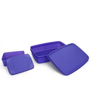 Cello Homeware Max Fresh Compact Lunch Box Set - Purple