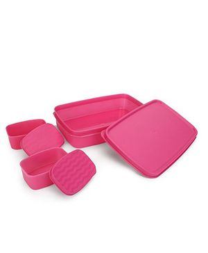 Cello Homeware Max Fresh Compact Lunch Box Set - Pink