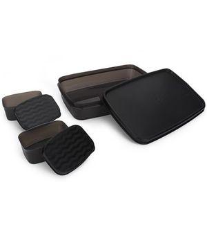 Cello Homeware Max Fresh Compact Lunch Box Set - Black