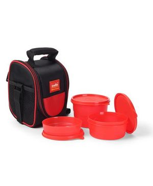 Cello Homeware Max Fresh Super Lunch Box With Bag Set of 3 - Red