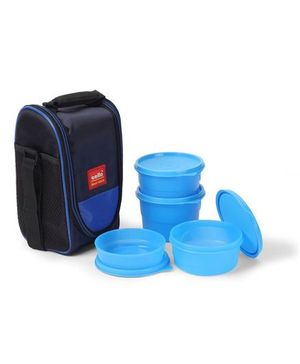 Cello Homeware Max Fresh Super Lunch Box With Bag Set of 4 - Blue