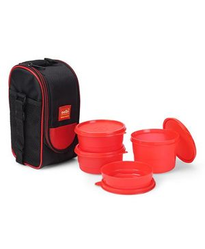 Cello Homeware Max Fresh Super Lunch Box With Bag Set of 4 - Red