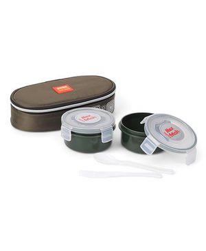 Cello Homeware Max Fresh Lunch Box With Pouch - Dark Green