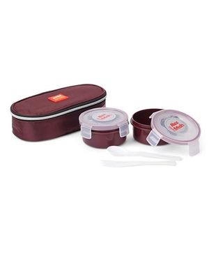 Cello Homeware Max Fresh Lunch Box With Pouch - Maroon