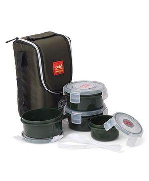 Cello Homeware Max Fresh Lunch Box Set of 4 - Green