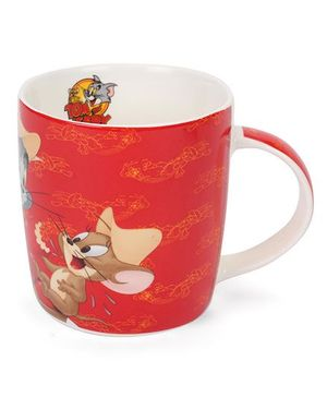B Vishal Tom & Jerry Mug Friends Forever Print Red - 300 ml