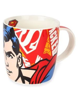 B Vishal Superman Logo Mug Red - 300 ml