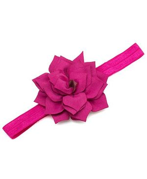 NeedyBee Lotus Big Flower Soft Elastic Baby Headband - Fuchsia Pink
