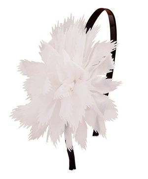 Miss Diva Rosette Hairband - White