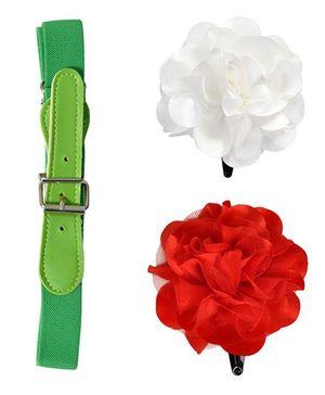 Miss Diva Belt & Tic Tac - Green Red & White