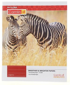 Camlin Small Single Line Notebook Soft Cover Zebra Print - 164 Pages