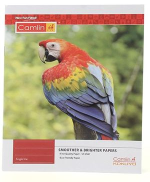 Camlin Small Single Line Notebook Soft Cover Parrot Print - 164 Pages