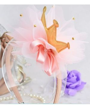 Angel Closet Crown With Pearls Hair Band - Champagne