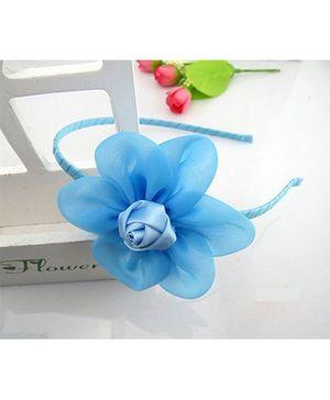 Angel Closet Beautiful Rose Hairband - Blue