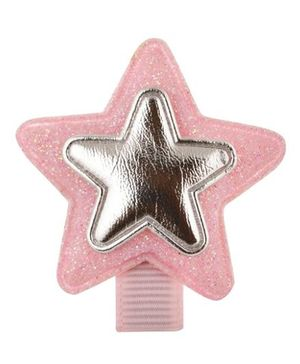 Angel Closet Glitter Star Hair Clip - Light Pink