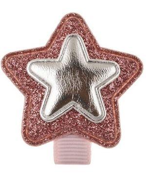 Angel Closet Glitter Star Hair Clip - Dark Pink