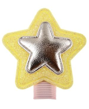 Angel Closet Glitter Star Hair Clip - Yellow