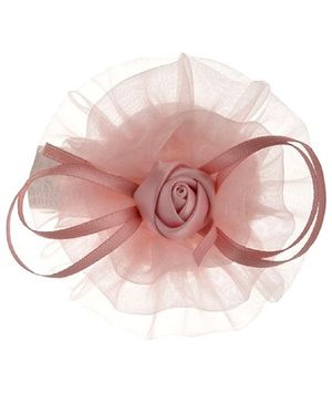 Angel Closet Rose Tulle Hair Clip - Mauve