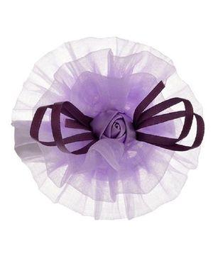 Angel Closet Rose Tulle Hair Clip - Purple