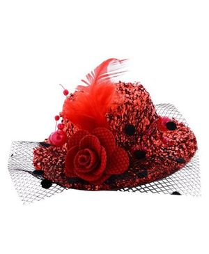 Angel Closet Stylish Hat Clip - Red