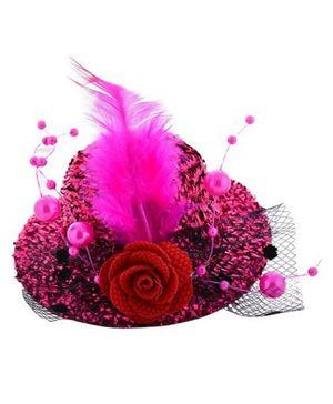 Angel Closet Stylish Hat Clip - Bright Pink
