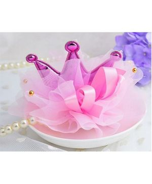 Angel Closet Crown Hair Clip - Pink