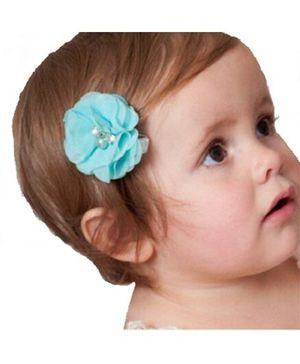 Angel Closet Chiffon Flower Hair Clip - Blue
