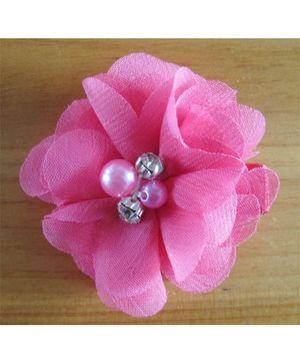 Angel Closet Chiffon Flower Hair Clip - Pink