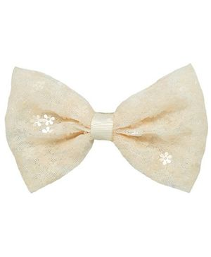 Angel Closet Bow Hair Clip - Beige