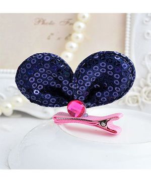 Angel Closet Sequinned Hair Clip - Navy Blue